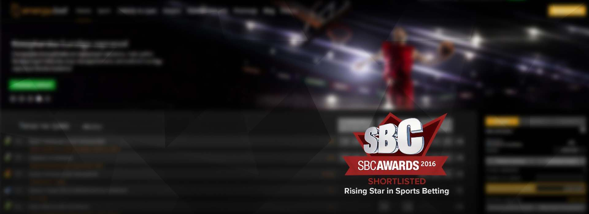 EnergyBet Shortlisted for SBC Awards 2016 'Rising Star in Sports Betting'